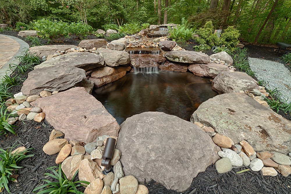 waterfall landscape feature