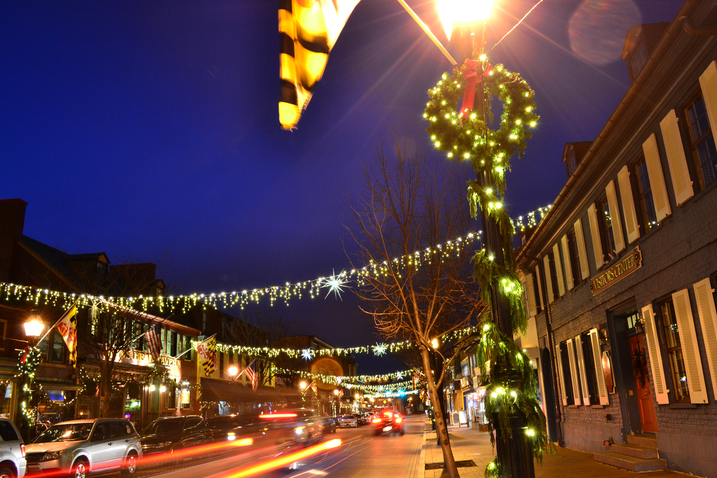West Street Holiday Lighting - Annapolis, MD