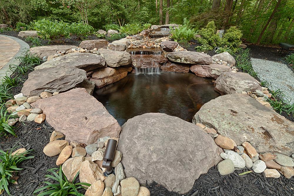 waterfall landscape feature