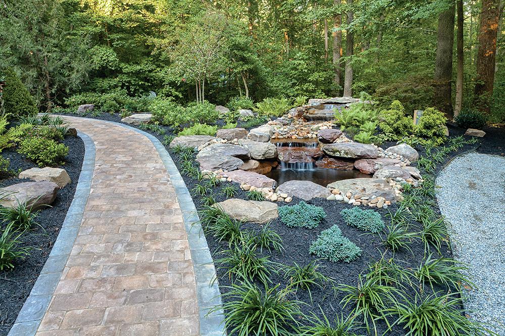 waterfall in landscape design