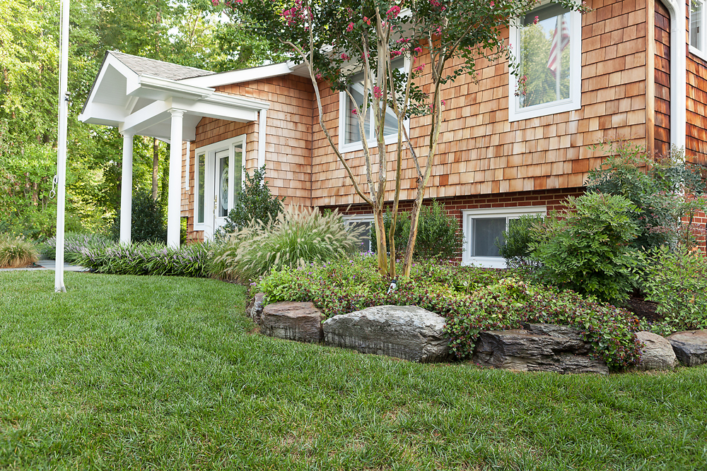 home front planting with crapemyrtle